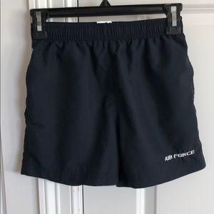 Vintage navy drawstring Air Force athletic shorts